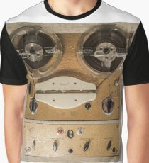 Vintage tape sound recorder reel to reel  Graphic T-Shirt