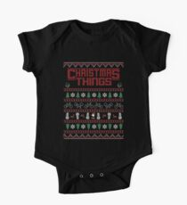 Christmas Things Ugly Sweater One Piece - Short Sleeve