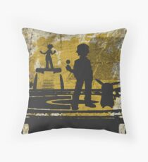The Monster Trainer Throw Pillow