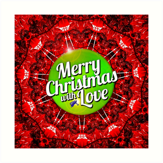 merry christmas with love by peter gross