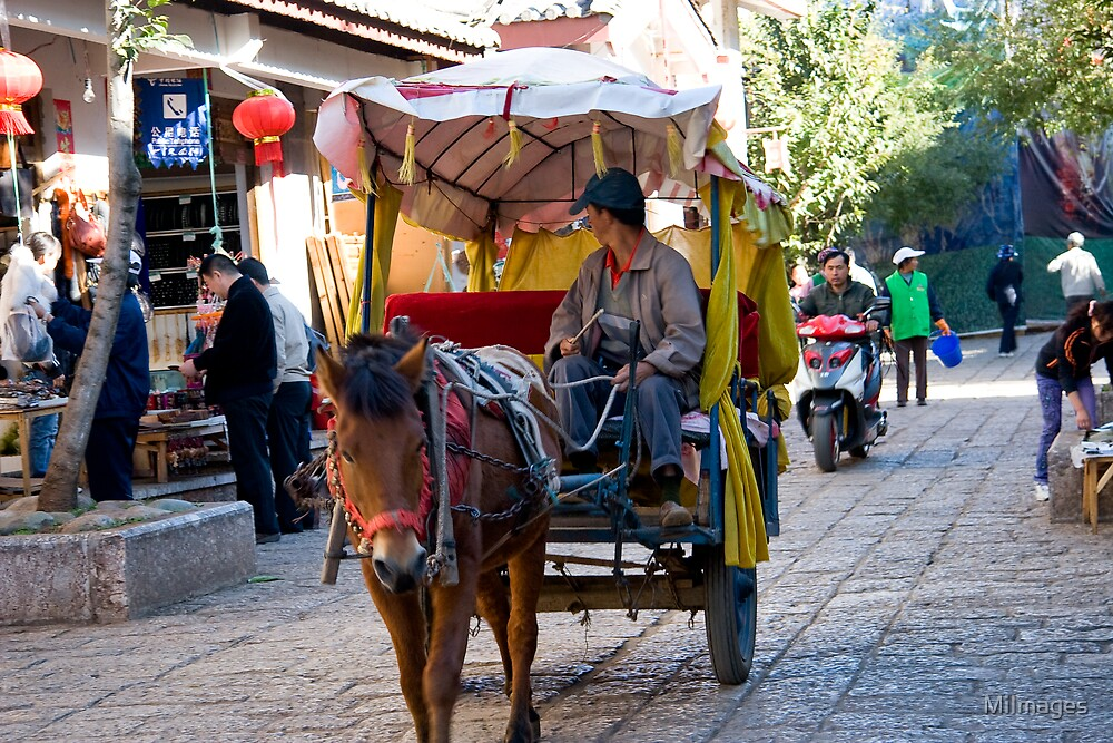 Local Taxi Zang Village Yunan Province China by MiImages