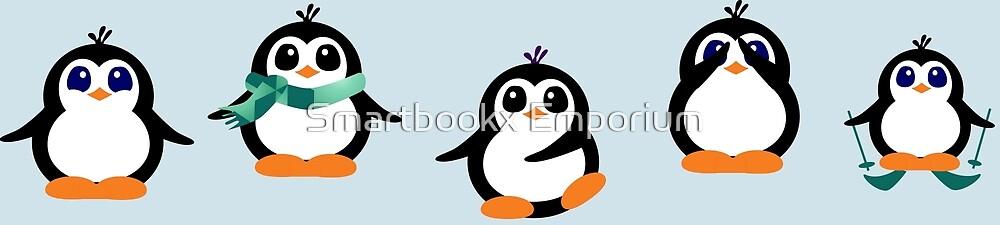 Cute Penguin Fun Cartoon Group by Smartbookx Emporium