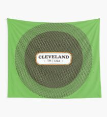 Cleveland   Retro Badge Wall Tapestry