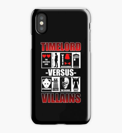 Time versus Villains iPhone Case