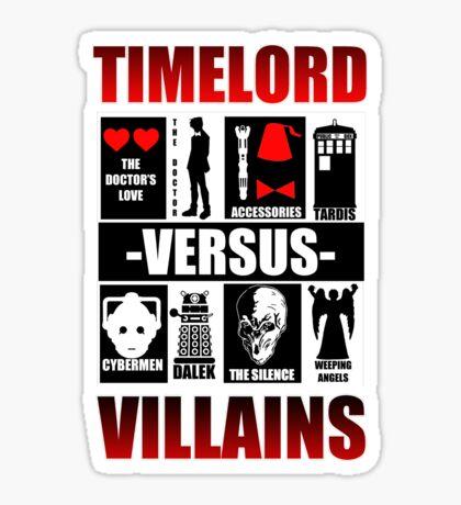 Time versus Villains Sticker