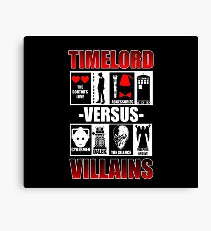 Time versus Villains Canvas Print