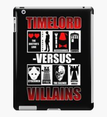 Time versus Villains iPad Case/Skin