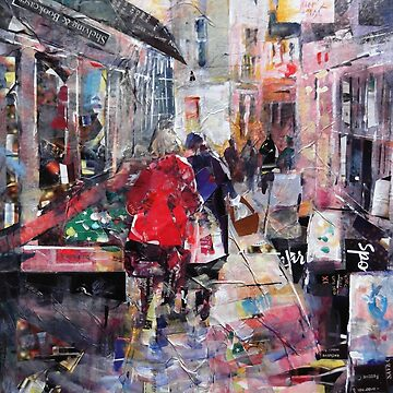 Shoppers Browsing - Town & Cities Art Gallery by ballet-dance
