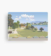 Hamilton Lake, New Zealand 1966 by Terry Moyle Canvas Print