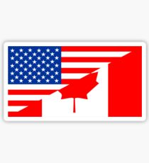 usa canada Sticker