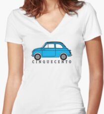 Cinquecento (lt blue) Women's Fitted V-Neck T-Shirt