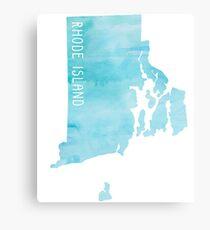 Rhode Island Blue Watercolor Metal Print