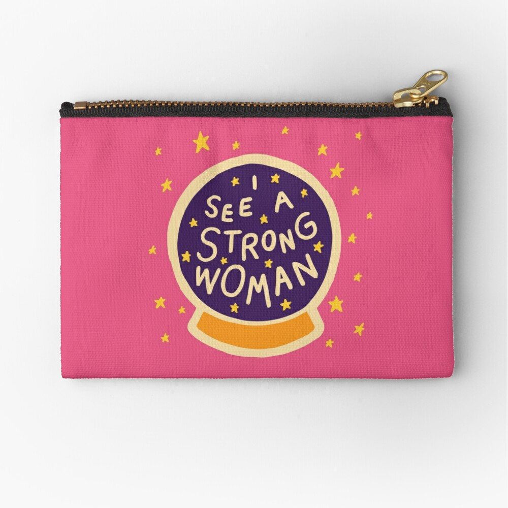 I see a strong woman Zipper Pouch