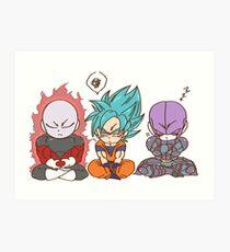 Jiren, Goku and Hit Art Print