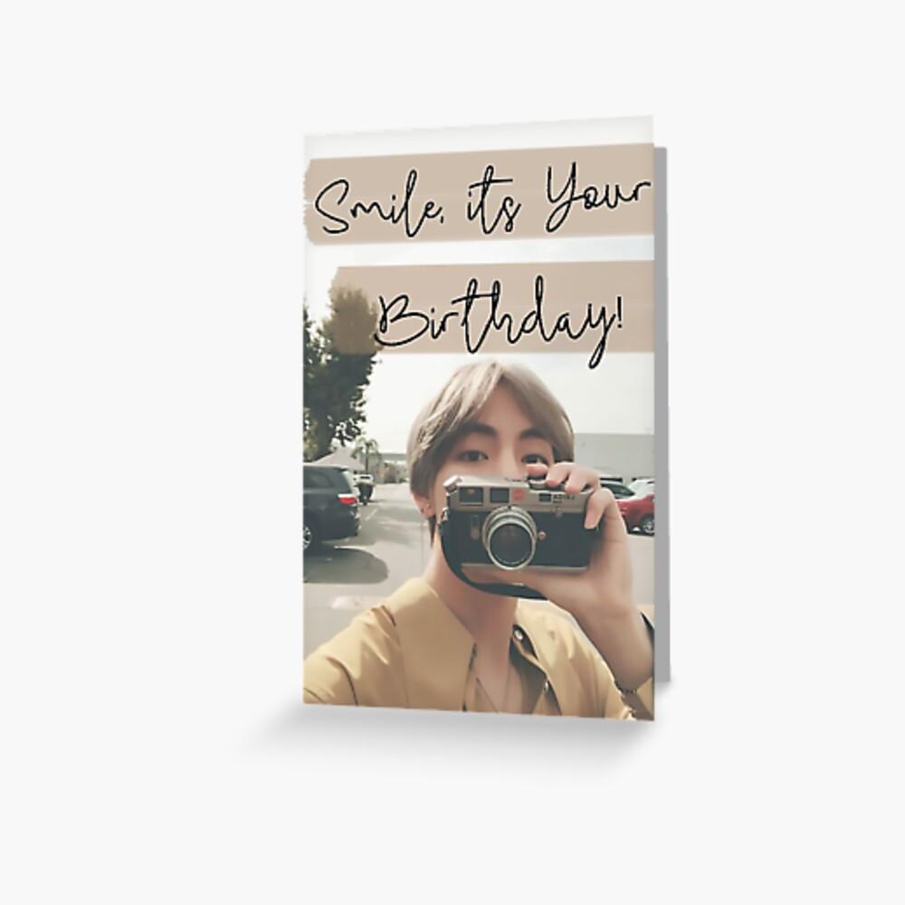 Taehyung-Geburtstags-Karte Grußkarte