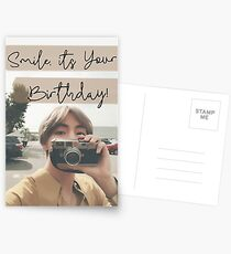Taehyung Birthday Card Postcards