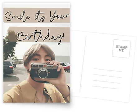 Taehyung Birthday Card by baekgie29