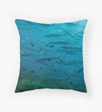 Barracuda Reef Throw Pillow