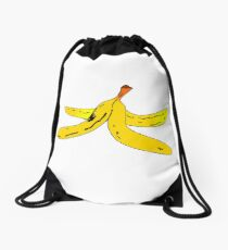 Banana Peel Cartoon - Cute Banana Art Drawing T-Shirt Pillow Sticker Drawstring Bag