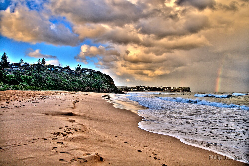 Footprints In The Sand -Warriewood Beach - The HDR Series by Philip Johnson