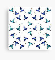 blue jays swirling Canvas Print