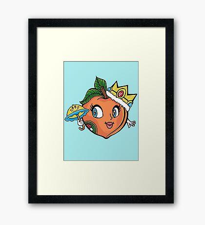 The Crown Peach Framed Print