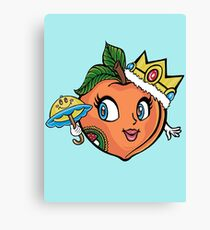 The Crown Peach Canvas Print