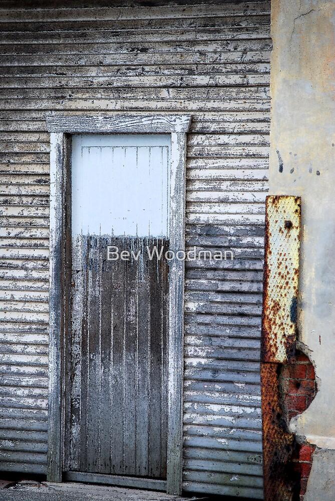 Rustic Door - Fred Ash Building, Newcastle NSW by Bev Woodman