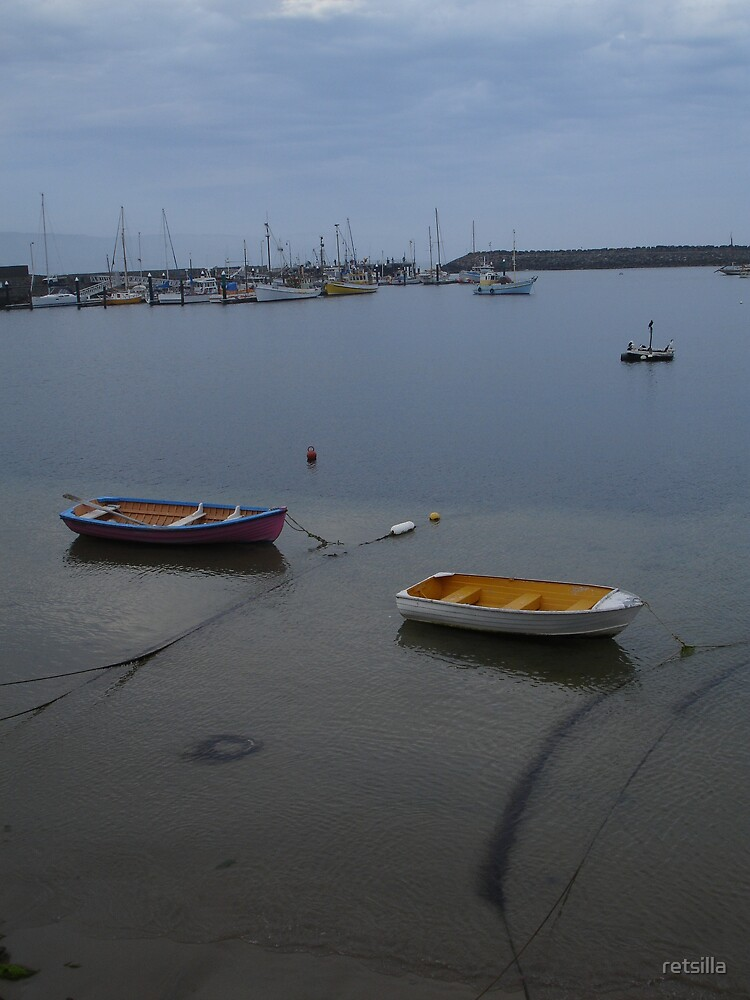 A Still Harbour Evening by retsilla