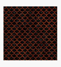 SCALES1 BLACK MARBLE & REDDISH-BROWN LEATHER (R) Photographic Print