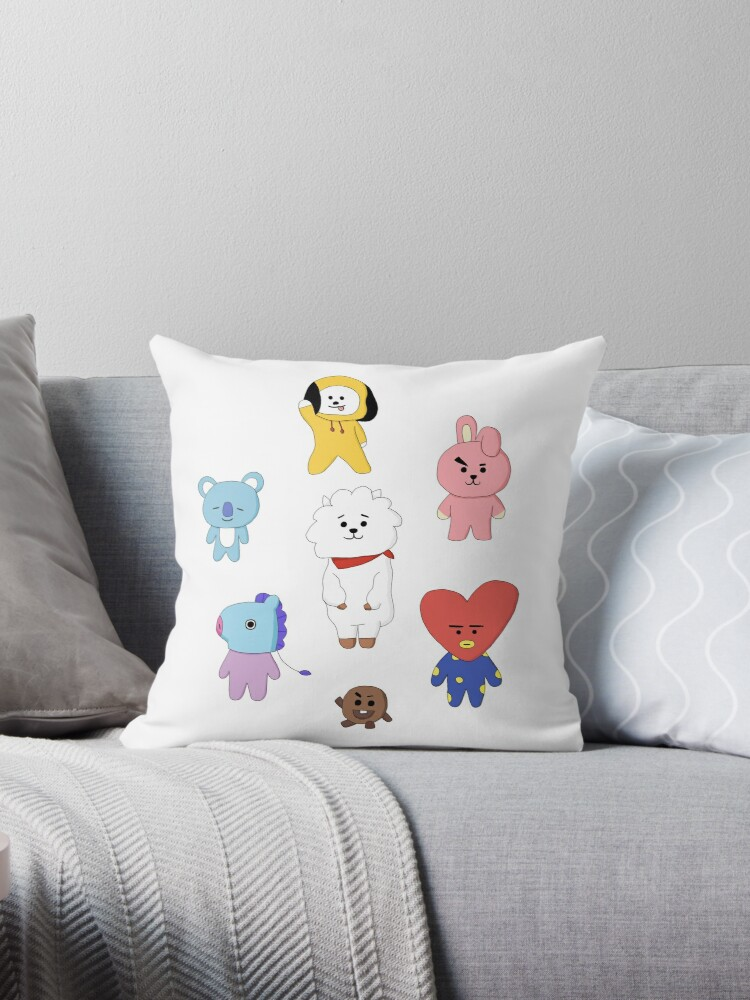 Quot Bt21 Bts Quot Throw Pillows By Hannah Downey Redbubble