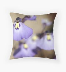 "Violet Bladderwort (Fairy Apron/Petticoat) ""Utricularia dichotoma"" Throw Pillow"