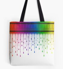 Melting Crayons Tote Bag