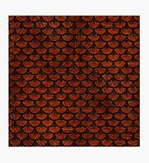 SCALES3 BLACK MARBLE & REDDISH-BROWN LEATHER Photographic Print