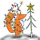 Xmas fox unplugged by kulawiecka