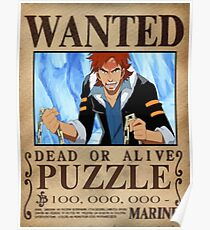 Wanted Puzzle - One Piece Poster