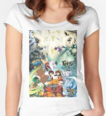 Pokemon Ultra Sun and Moon Women's Fitted Scoop T-Shirt