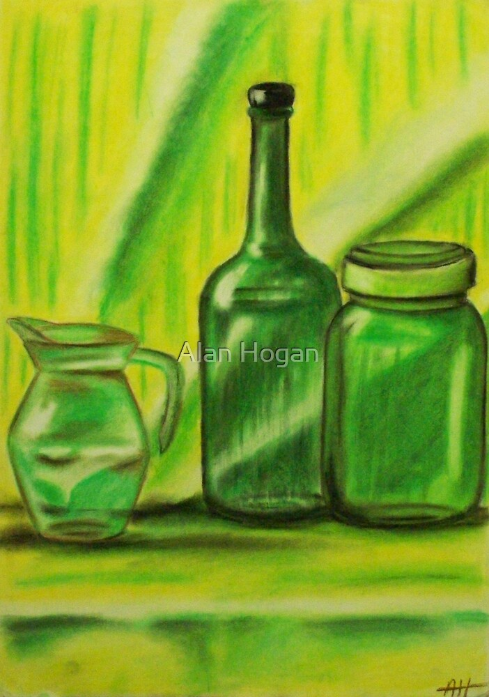 Still-Life in green by Alan Hogan