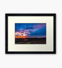 Burrator sunset Framed Print