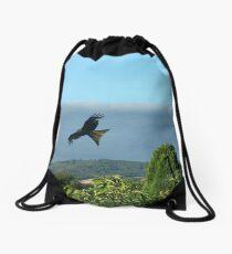 Flying high as a kite Drawstring Bag
