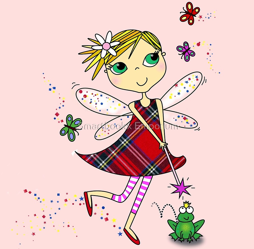 Cute Magic Fairy Cartoon by Smartbookx Emporium