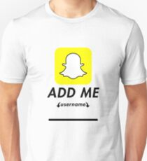 Add me on snapchat Funny christmas gift T-Shirt