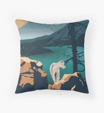 Glacier National Park - Scenic Overlook  Floor Pillow