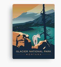 Glacier National Park - Scenic Overlook  Canvas Print