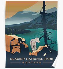 Glacier National Park - Aussichtspunkt Poster