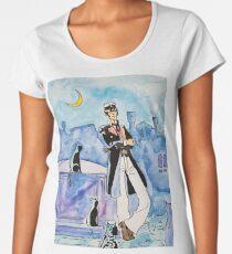 Corto Maltese with cats  Women's Premium T-Shirt
