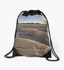 Inlet Beach Low Tide Sunset Photography Drawstring Bag