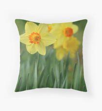 Shropshire Daffodils  Throw Pillow