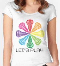 Women's Lacrosse - Let's Play Women's Fitted Scoop T-Shirt