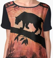The Lonely Prowler - Gouache Chiffon Top